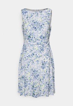 XAMIRA SLEEVELESS DAY DRESS - Day dress - col cream/blue/multi