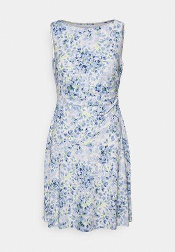 XAMIRA SLEEVELESS DAY DRESS - Kjole - col cream/blue/multi