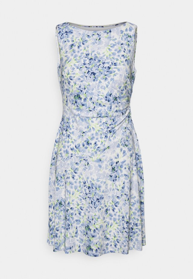 XAMIRA SLEEVELESS DAY DRESS - Robe d'été - col cream/blue/multi
