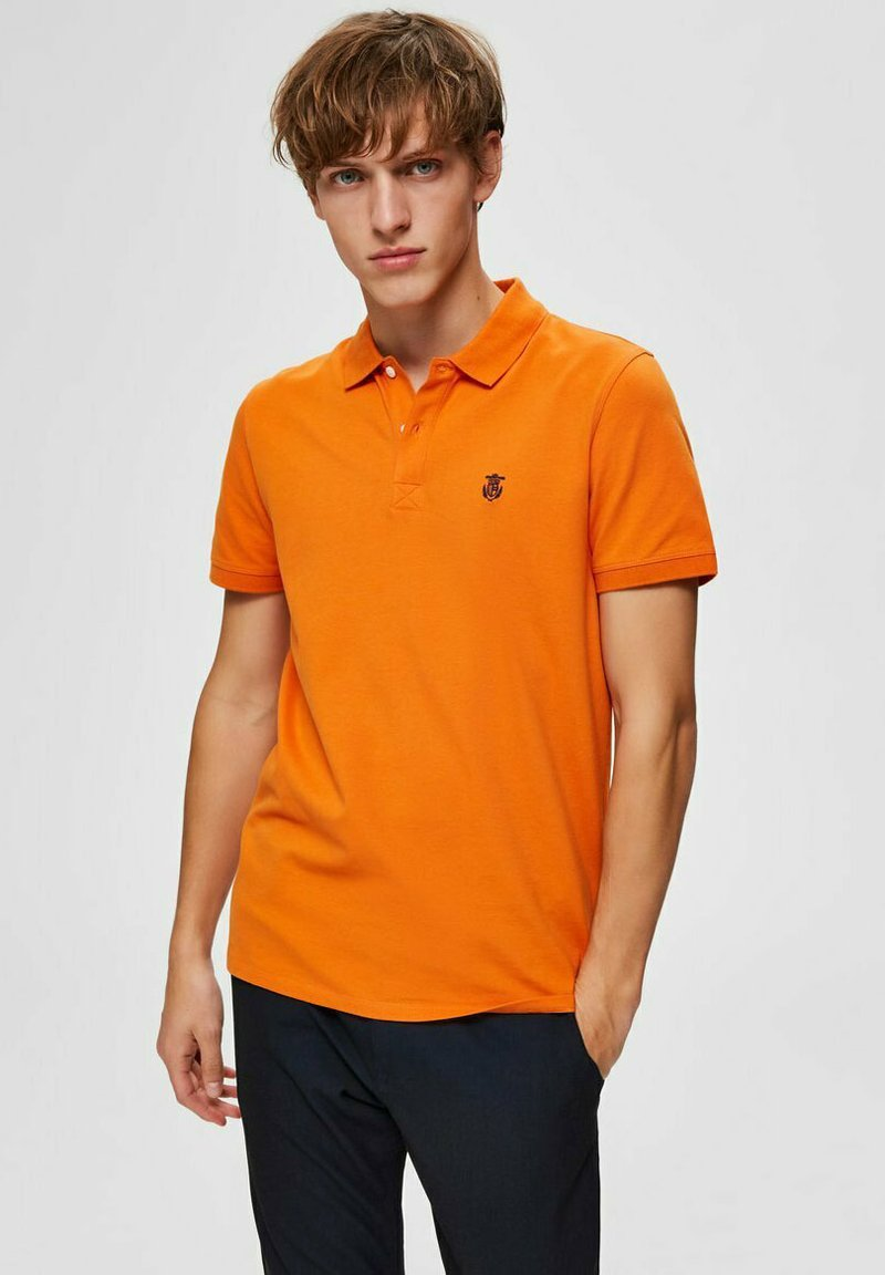 Selected Homme - SLHARO EMBROIDERY - Polo shirt - russet orange