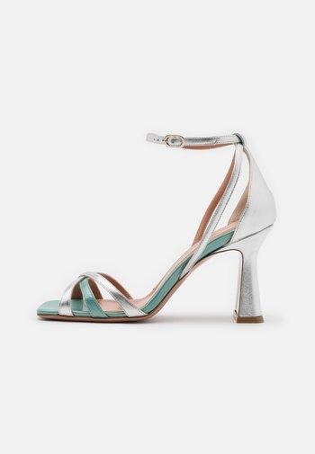 ALYSSA - High heeled sandals - sirio aqua/silver