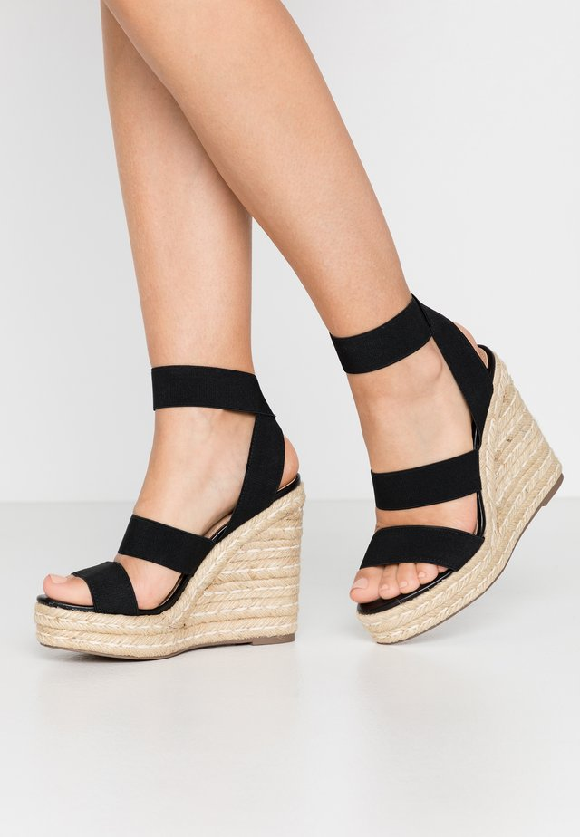 SHIMMY - Sandalias de tacón - black