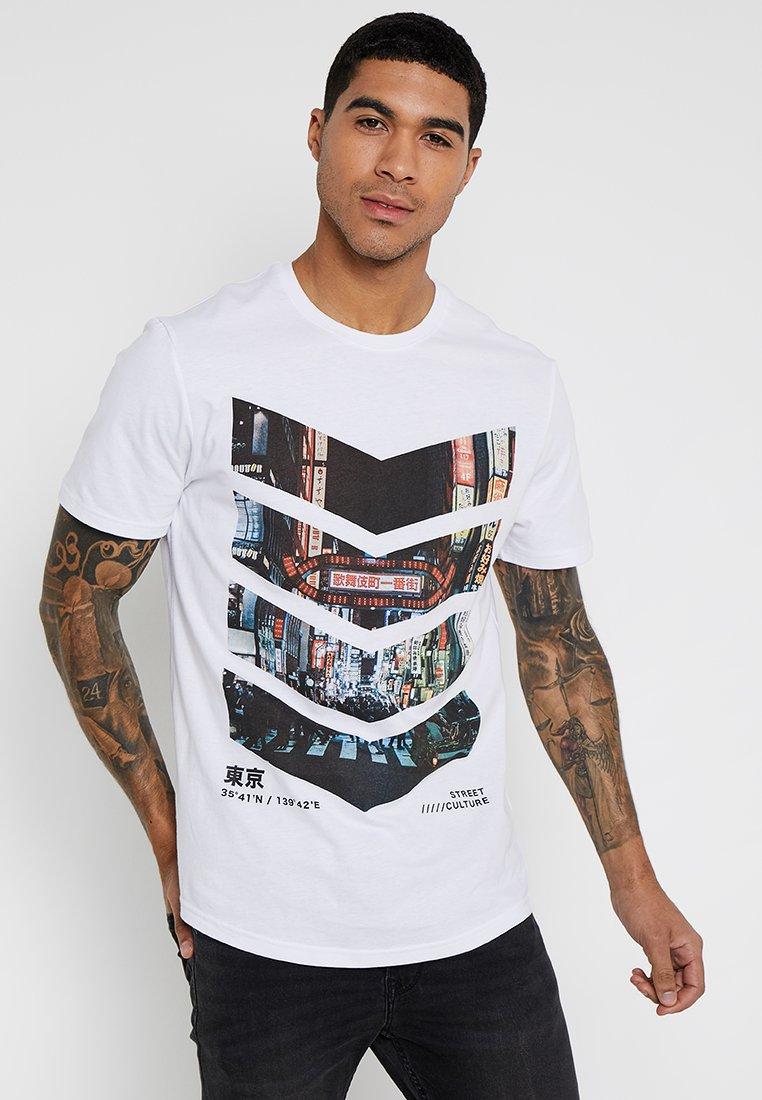 YOURTURN - Print T-shirt - white