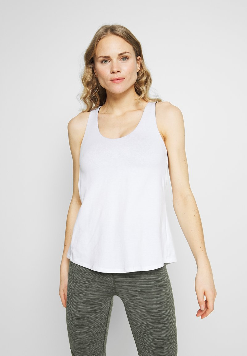 Cotton On Body - STRAPPY 2-IN-1 TANK - Top - white/spray ditsy
