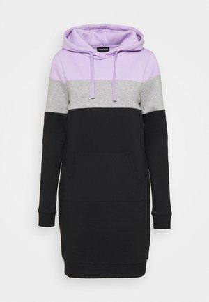 Hoodie - lilac/grey/black