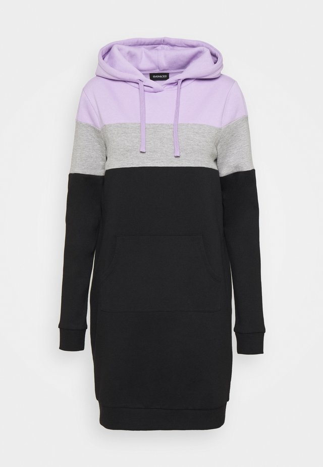 Bluza - lilac/grey/black