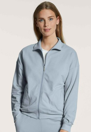 MIT REISSVERSCHLUSS - Zip-up sweatshirt - blue fog