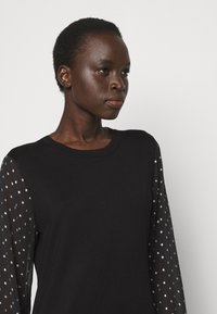 DKNY - FOIL CREW NECK DRESS - Jumper dress - black/silver - 3