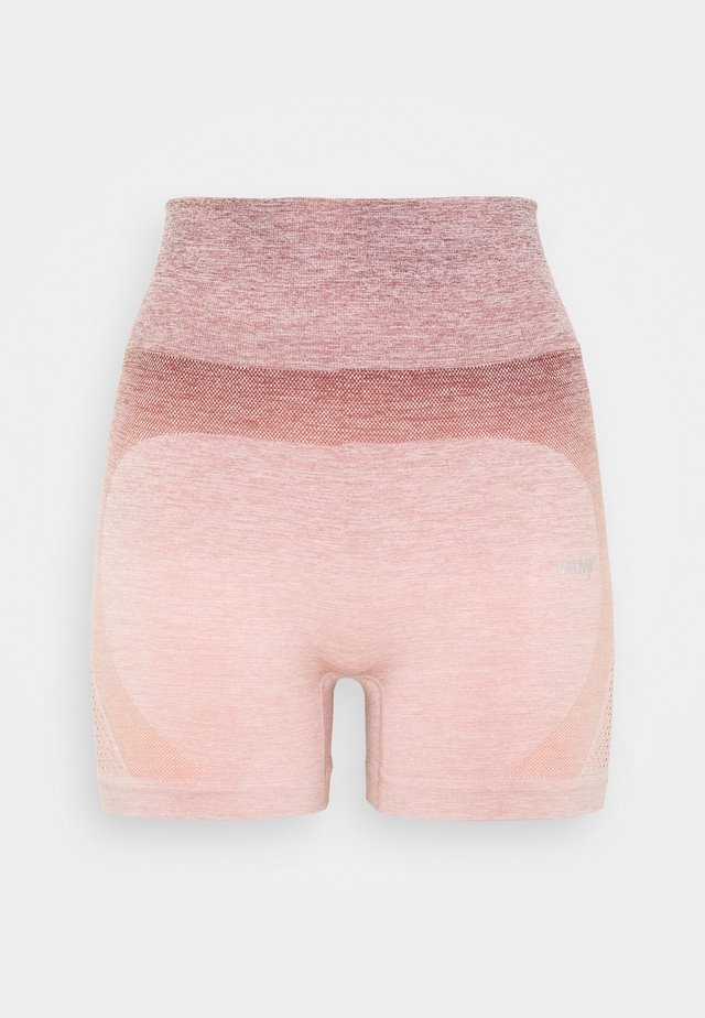 SHORT OMBRE - Tights - adobe rose