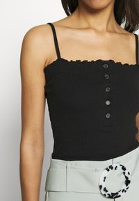 Missguided - LETTUCE EDGE CROP 2 PACK - Top - white/black - 6