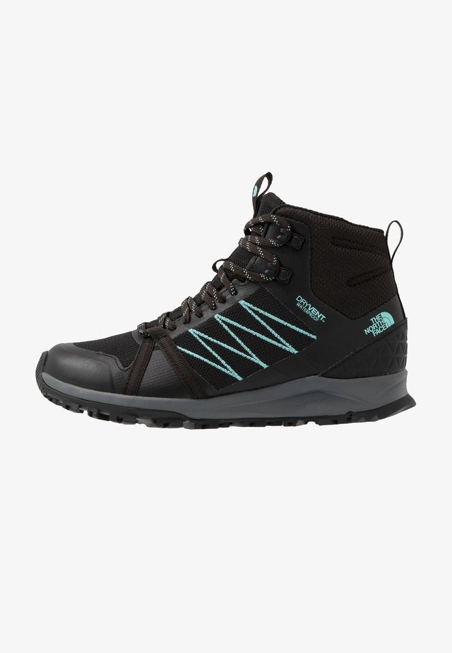 Hikingsko - black/aqua splash