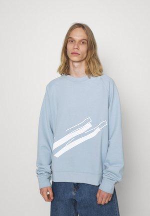 LINE PRINT CREW NECK - Felpa - blue