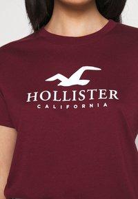 Hollister Co. - TIMELESS LOGO - Print T-shirt - burgundy - 5