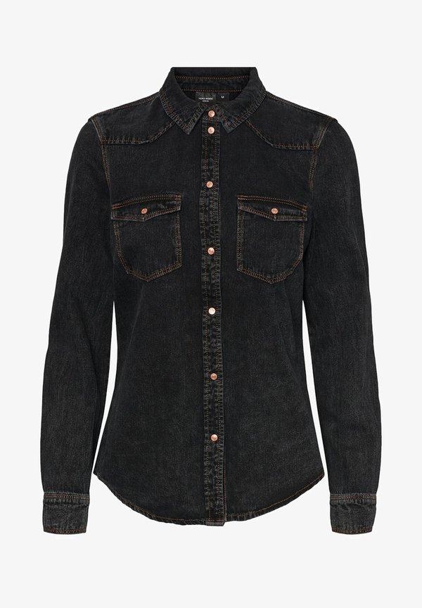 Vero Moda Koszula - medium grey denim/szary denim QGHS
