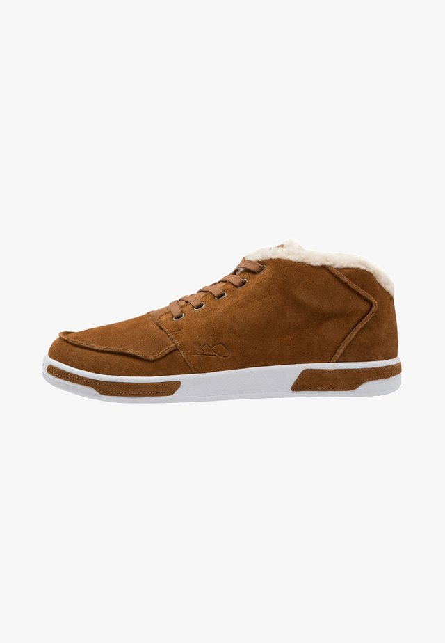 PARK AUTHORITY  - High-top trainers - cognac