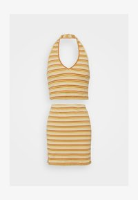 Glamorous - MAYA HALTER NECK CROP WITH SKIRT SET - Pencil skirt - yellow rust - 3