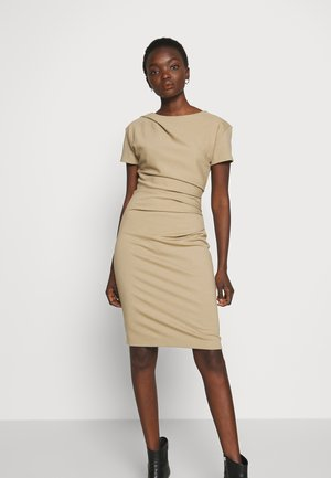 Shift dress - pale mocha
