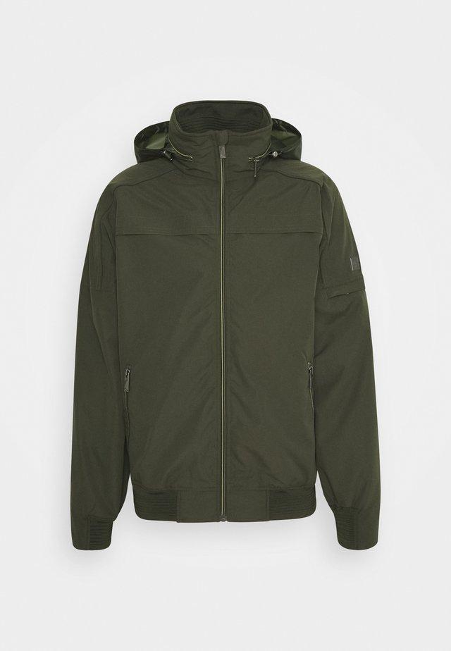 MONTEL - Waterproof jacket - dark khaki