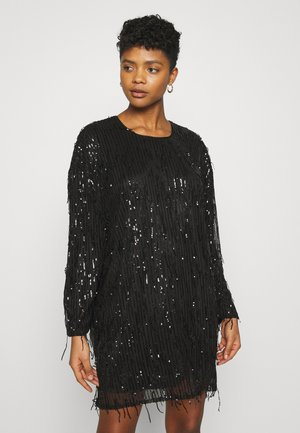 FRINGE DRESS - Cocktail dress / Party dress - black