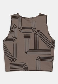 ONLY Play - ONPJOYA CROP - Top - deep taupe/black - 1