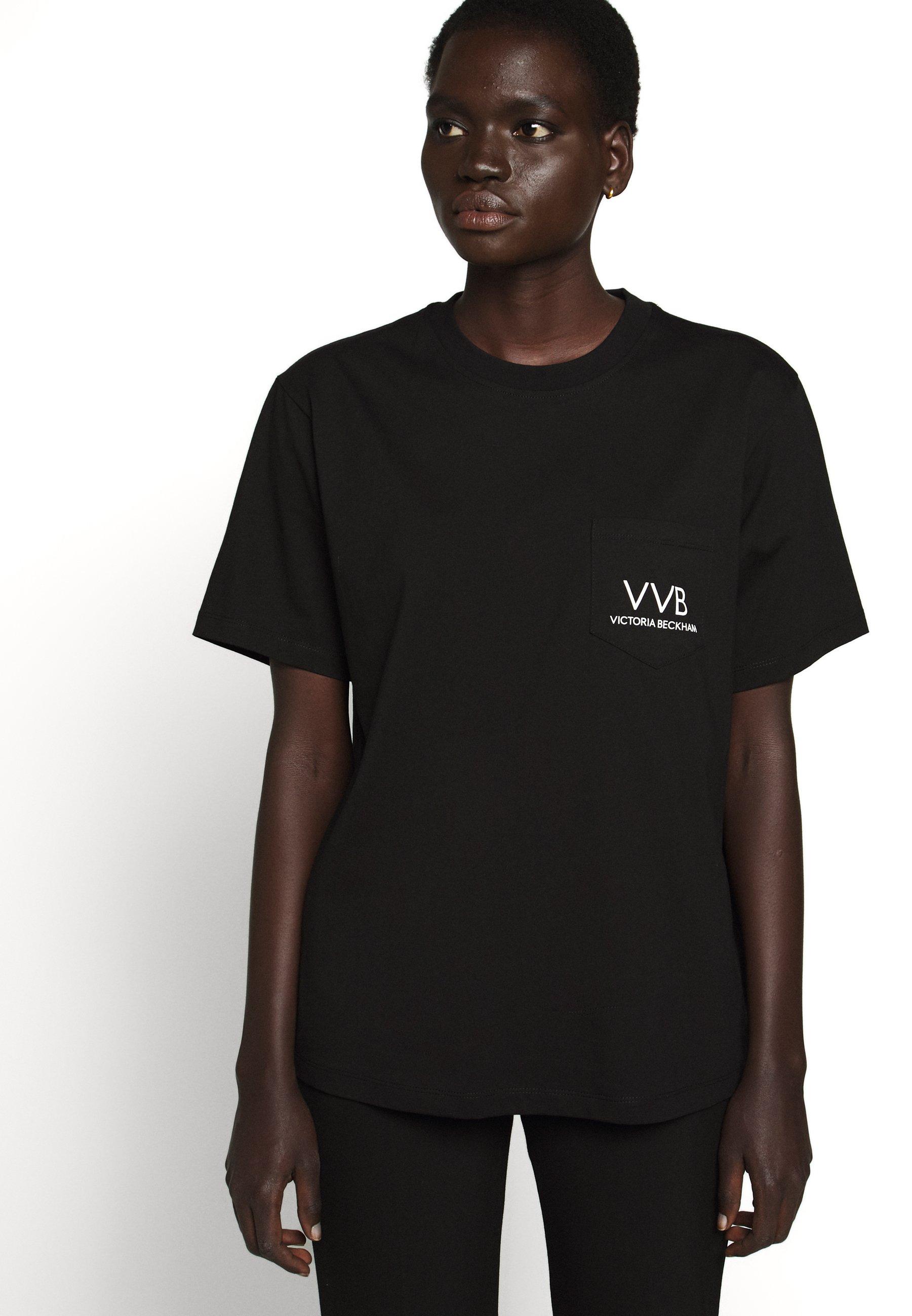 Victoria Beckham Pocket Logo - T-shirts Med Print Black/svart