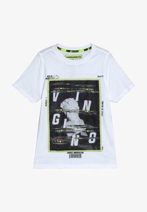 HEFFIE - T-shirt med print - real white
