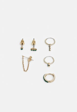 FINE STUD AND EAR CUFF 6 PACK - Kolczyki - gold-coloured