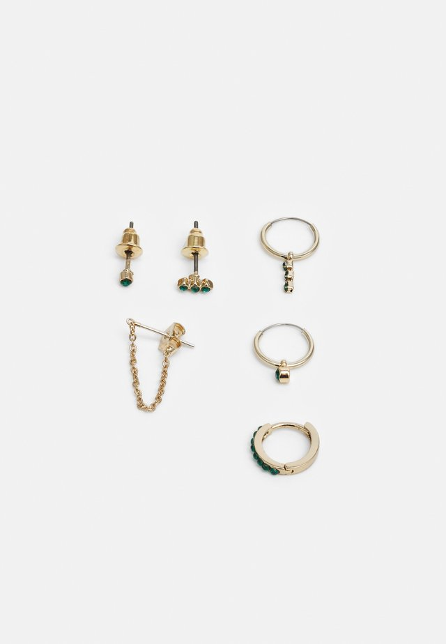 FINE STUD AND EAR CUFF 6 PACK - Oorbellen - gold-coloured