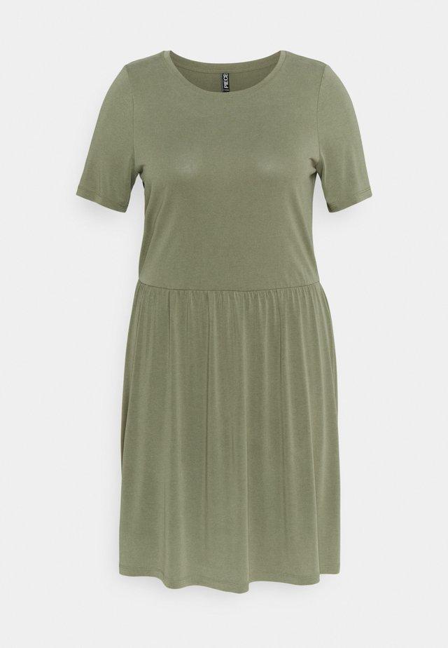 PCKAMALA DRESS - Jerseyjurk - deep lichen green