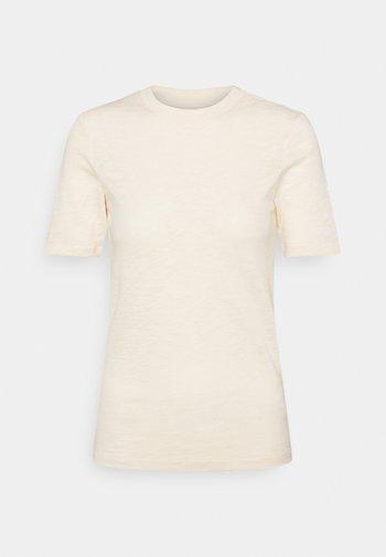 SHORT SLEEVE ROUND NECK - Basic T-shirt - natural