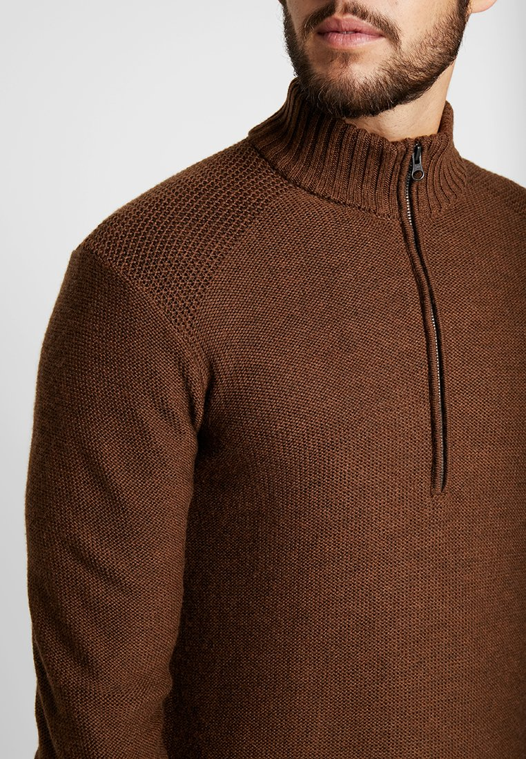 Icebreaker MENS WAYPOINT HALF ZIP - Strikkegenser - bronze heather
