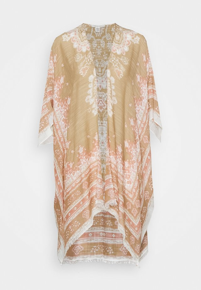PAISLEY MIDI DUSTER - Tuniek - tan