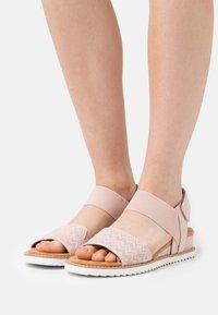 Skechers - DESERT KISS - Wedge sandals - blush - 0