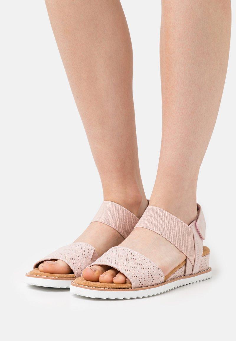 Skechers - DESERT KISS - Wedge sandals - blush