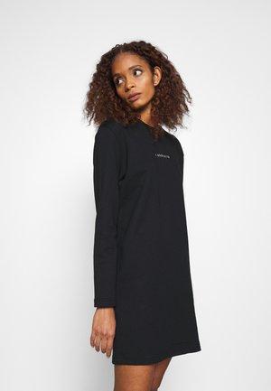 METALLIC LOGO DRESS - Day dress - black