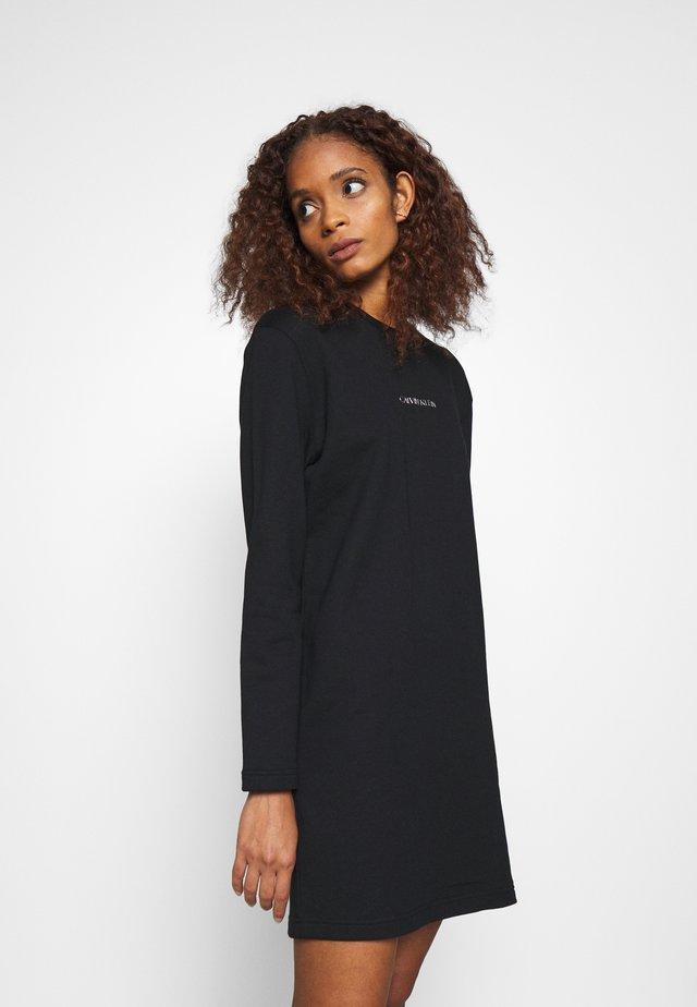 METALLIC LOGO DRESS - Denní šaty - black