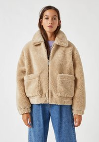 PULL&BEAR - Fleece jacket - camel - 0