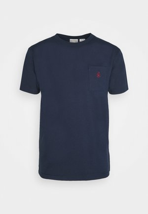 ONE POINT TEE - Basic T-shirt - navy