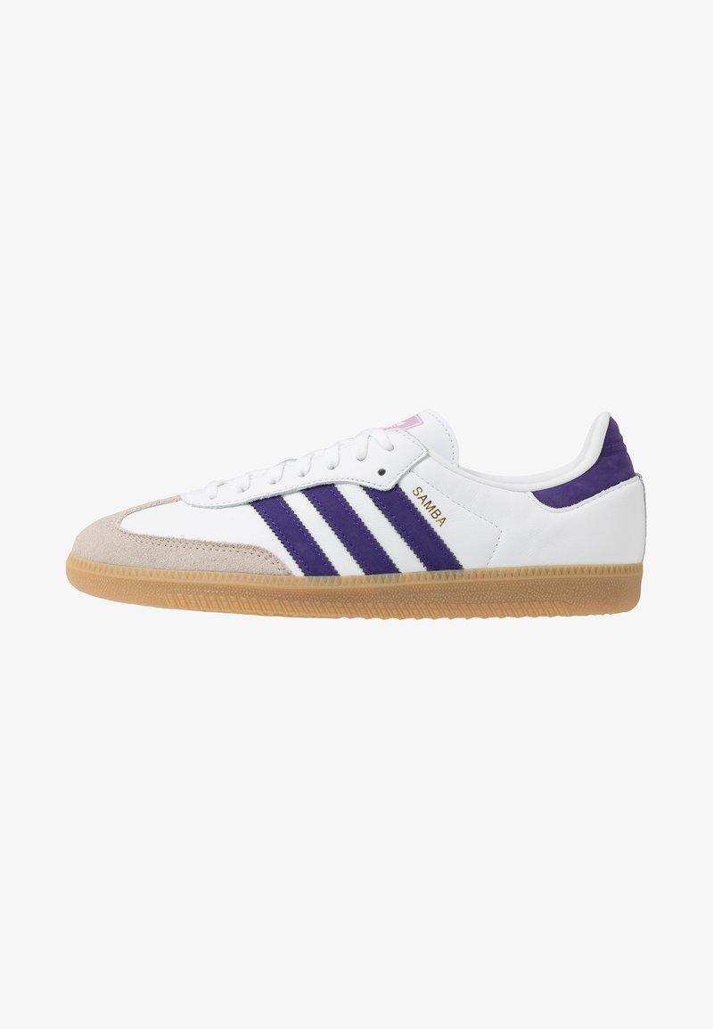 adidas Originals - SAMBA FOOTBALL - Sneaker low - footwear white/collegiate purple/soft vision