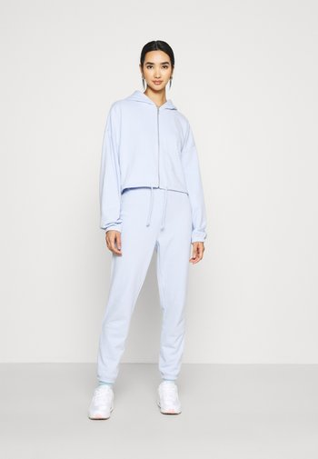 SET - Oversized Sweat Jacket & Jogger - Sweatjakke - blue