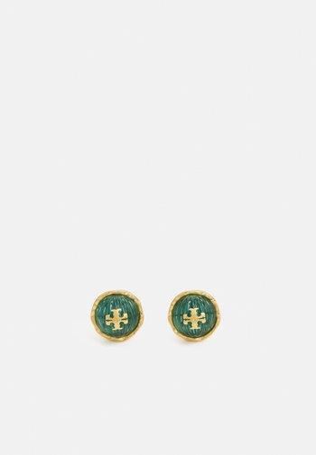 ROXANNE CIRCLE STUD EARRING - Orecchini - azure green