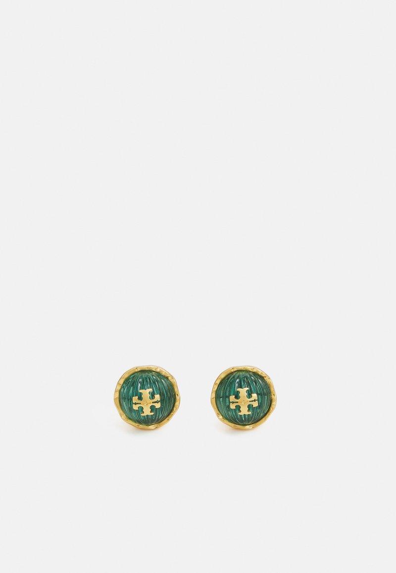 Tory Burch - ROXANNE CIRCLE STUD EARRING - Orecchini - azure green