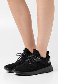 Calvin Klein Jeans - RONETTE - Trainers - black/silver - 0