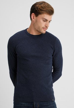 Sweter - mottled dark blue