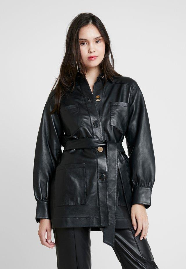 SCILLA - Leren jas - black
