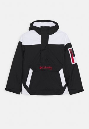 CHALLENGER - Outdoor jacket - black/white/mountain red