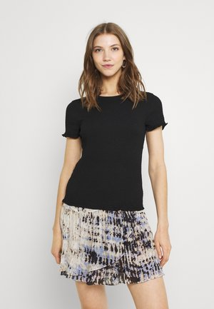 VIHAGEN O NECK - T-shirts - black