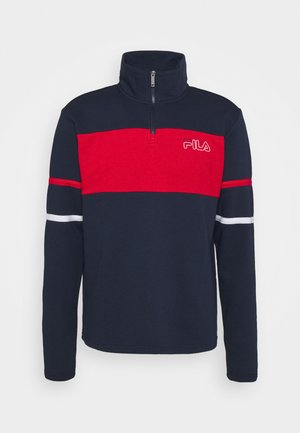 LANCE HALF ZIP - Bluza - black iris/true red