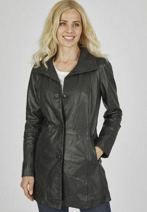 SOPHIA - Leather jacket - schwarz