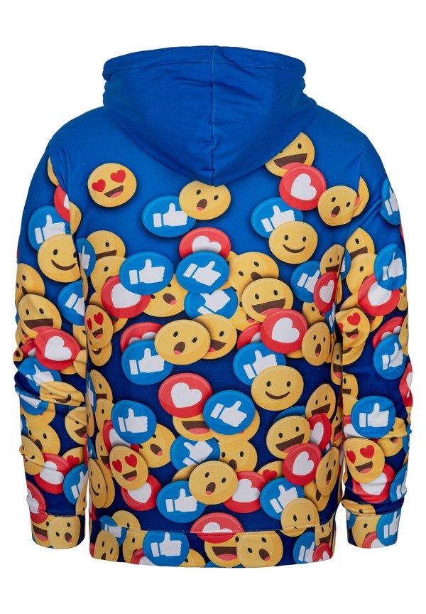 Mr. GUGU & Miss GO Bluza z kapturem - blue/niebieski Odzież Męska GEUF